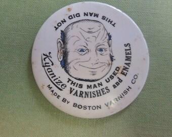 Vintage Topsy Turvy Pocket Mirror - Collectible Pocket Mirror - Advertising Mirror - REDuCED
