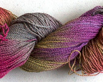 Nuthatch, Hand painted yarn, fine cotton/rayon cable, 300 yds - Desert