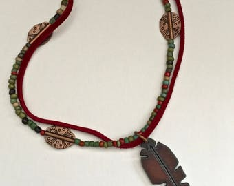 Southwestern Feather Necklace