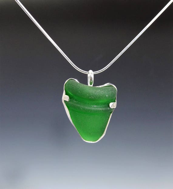 Kelly Green Sea Glass Necklace