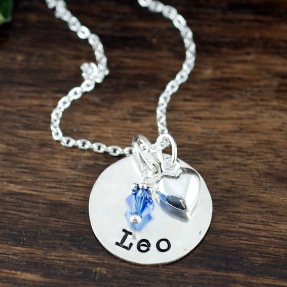Hand Stamped Name Necklace for Girl, Personalized Jewelry, Sterling Silver, Mothers Necklace, Name Jewelry, Gift for Mom, Mother's Day Gift
