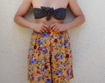 Shorts Vintage Womens Printed High Waisted