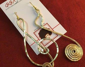 MUSIC to my EARS: Bangin' Beauties hammered aluminum earrings