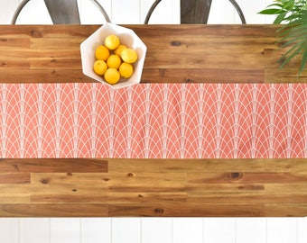 Designer Table Runner // Table Linens // Kitchen Decor // Arcada Design // Minimalist Geometric // Table Decoration // Lines // Home Decor