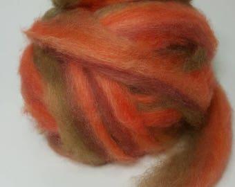Suri Alpaca Roving. Hand Dyed, Silky Soft Roving,  Striped Suri Alpaca Roving, Garden Party
