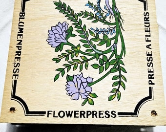 Vintage flower press, rustic wooden press, vintage press, dried flower press, wooden flower press, dried flower, new old stock, craft supply