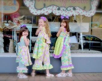 MADELEINE Ruffle Trimmed Summer Pinafore Dress PDF Pattern Juvie Moon Designs   Custom Boutique