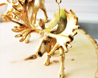 10 TABLE NUMBER HOLDERS Wedding Gold Animal Wire Card Holder Table Stands Picture Photo Sign Moose North American Wildlife Unique Woodland