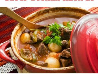Over 400 Fix it and Forget it Slow Cooker / Crock Pot Recipes Cookbook  / Ebook  Instant Digital Download in PDF Format