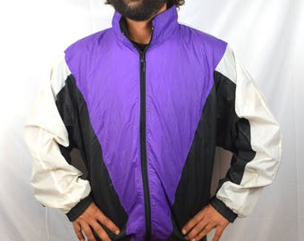 Vintage 80s 90s Purple Windbreaker Jacket
