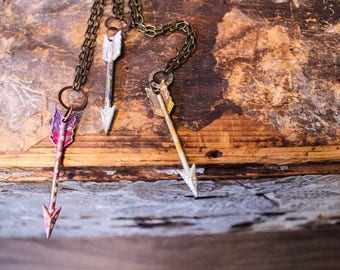 Painted Arrow Necklaces