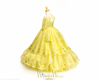 Belle Dress Adult Beauty and the Beast 2017 - New Belle Costume for Women, 2017 Emma Watson Belle dress for Prom Dress, Halloween cosplay