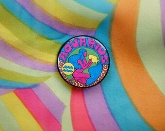 Aquarius.. 1.5 Inch Button... 1.5 Inch Badge... 1.5 Inch Pin