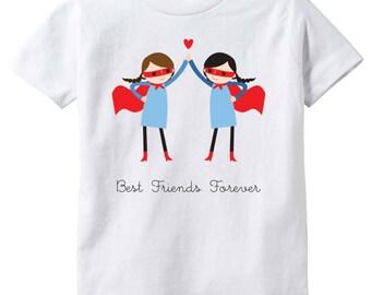 Best Friends Forever Super Heroes Girls Baby Girl Infant Tee T-Shirt