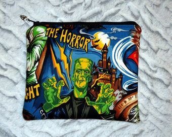 Frankenstein Makeup Bag - Horror Movie Monster Zipper Bag