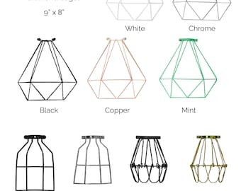 Cage Only Add on  - Lamp Guard - Bulb Guard - Industrial Pendant Light - Lamp shade - Diamond Cage - Geometric pendant shade