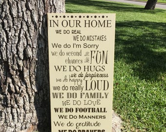 In This House We Do ~ Family Rules Christian Wood Sign ~ House Rules Sign ~ In This House ~ Family Rules Sign ~ We Do Family ~ Custom Sign