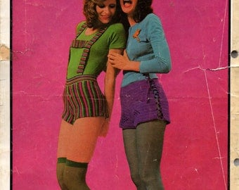 Patons 999 Womens Hot Pants & Shorts 1970s Vintage Boho Crochet Knitting Patterns Booklet ORIGINALS NOT PDF