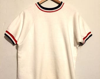 Short Sleeve Ringer Sweatshirt