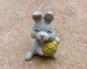 Easter Bunny Rabbit Pin, Lapel Pin, Tie Tack, Hat Pin, Holiday Pin