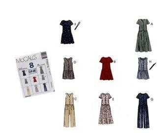 Vintage 90's McCall's 7731 Sewing Pattern Misses Dress Pattern Misses Jumpsuit Pattern Misses Romper Pattern Misses size 10 12 14 Uncut 1995