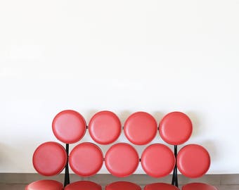 Marshmallow Sofa by George Nelson for Herman Miller RED