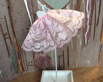 Blythe light pink lace skirt