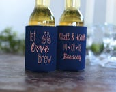 Fall Wedding Favors for Guests - Let Love Brew Personalized Can Coolers, Destination Wedding Ideas, DIY Summer Wedding Ideas, Rustic Wedding
