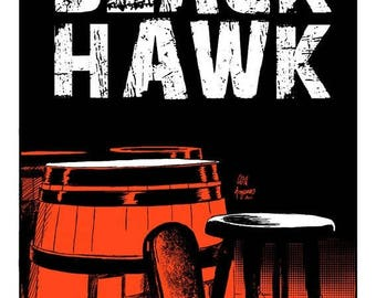 SILKSCREEN Black Hawk Pub