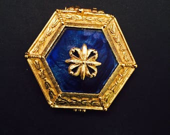 Perfume Compact Hexagon Shape Corday Toujours Moi Renaissance Vintage Creme Perfume