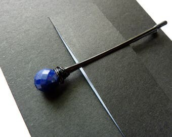 Lapis Lazuli Bobby Pin - Something Blue - Gemstone Bobby Pin