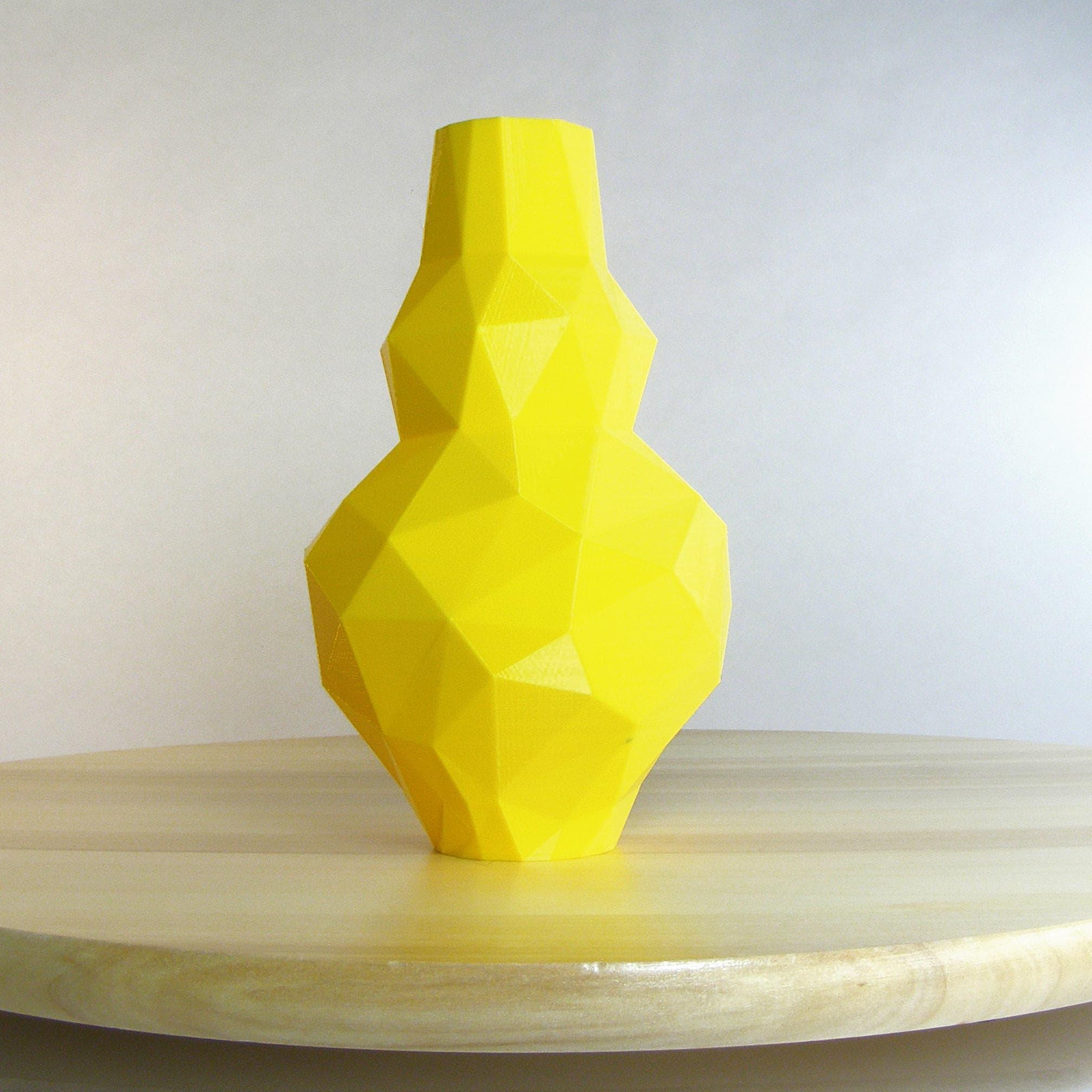 Lemon Yellow Vase low poly yellow decor Yellow Kitchen