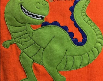 Boys T-Rex Dinosaur Shirt,  Personalized Applique and Embroidery, Kids Dinosaur Shirt, Custom Shirt