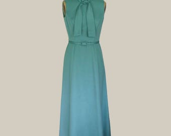 Vintage Hand Tailored Teal Formal