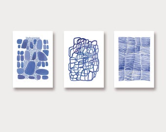 Art print watercolor set of 3 Art Prints, Watercolor Wall Art, Watercolor Art Prints, Home Decor nautical style