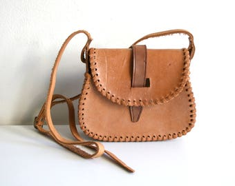 Handmade Boho Leather Satchel