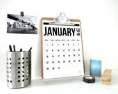 Vertical Landscape Digital Calendar, 2018 Calendar, Printable Calendar, Monthly Calendar, Planner, Gift for Student, Back to School, PDF