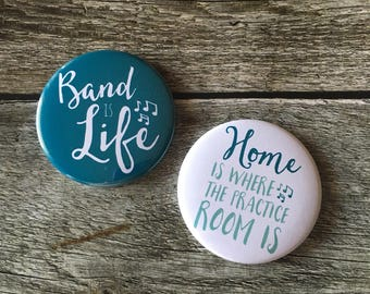 Pair of Band is Life and Practice Room Music Themed Magnets for Band Geeks - Set A