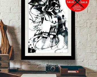 "Star Wars Art - SALE! 18""X24"" - Darth Vader - Star Wars Poster, Art Print, fan art Illustration, Star Wars Print, Darth Vader Poster"