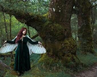 Fairy Wings Cicada natural white costume cape  costume