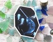 Narwhal Crystal Sticker - Waterproof Decal