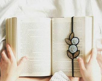 BIRTHDAY SALE Flower Bookmark  - Book Lover Gift - Reader Gift - Unique Bookmark - Planner Band - Elastic Bookmark - Gift for Friend