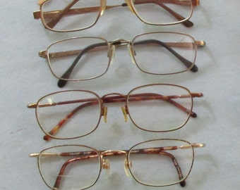 Six Pair of Vintage Eye Glasses in Various Shapes and Sizes - GS22NF