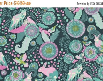 SALE 10% Off - Foxtrot in Dusk PWTP045 - Tula Pink  FOX Field - Free Spirit Fabric - By the Yard
