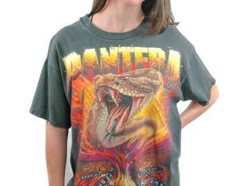 Vintage PANTERA Shirt 1999 World Domination Tour Concert shirt Band Tee Metallica shirt guns n roses shirt Slayer shirt Black 1990s  L