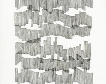 Chart 4, archival print / drawing / abstract contemporary art / cartography / music score / composition