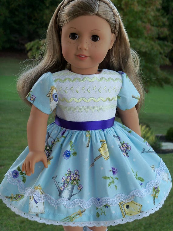 "18"" Size/  Embroidered Dress Fits  American Girl or Other 18"" Dolls"