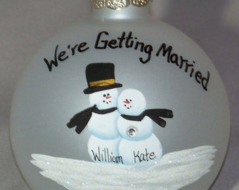 Personalized Ornament Honoring Your ENGAGEMENT