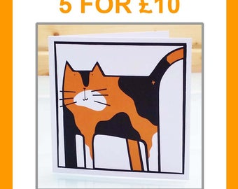 Multipack of 5 greeting cards - birthday card animal card animal lover card cat card dog card