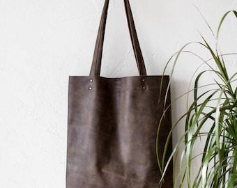 Xmas SALE Distressed Khaki Leather Tote bag No.Tl- 17065